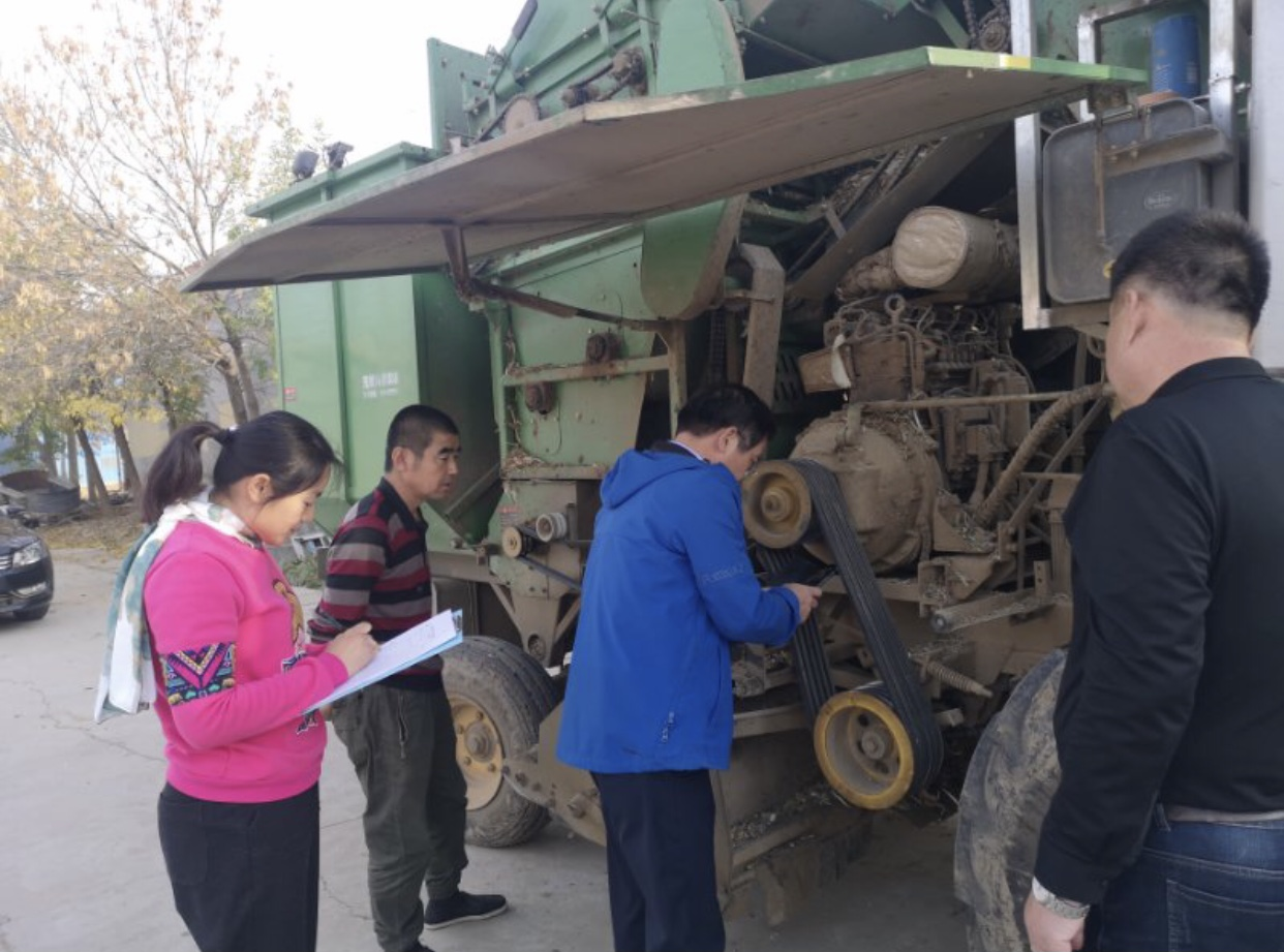 滨州157台大型玉米收获机质量接受省级抽查