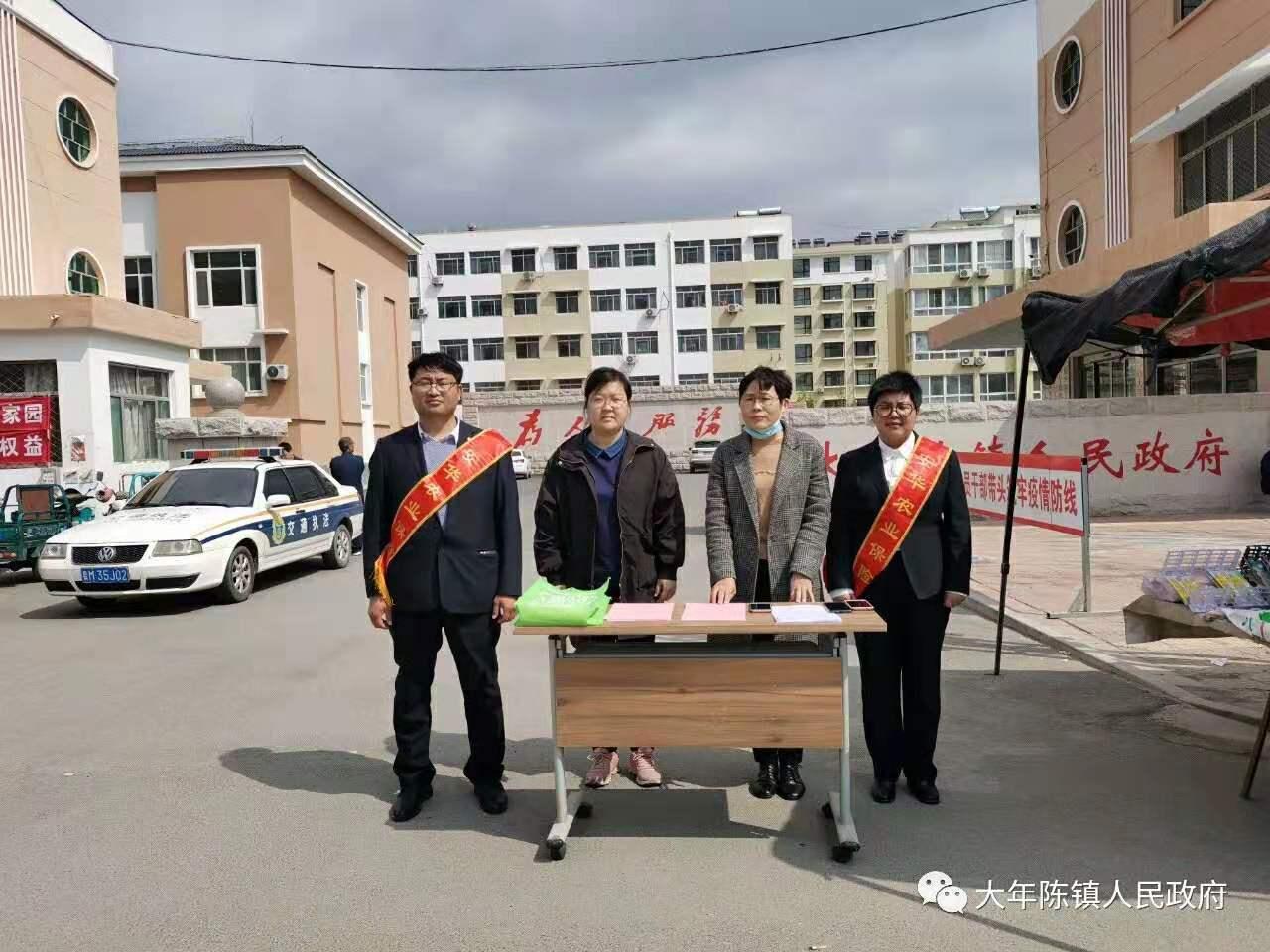 大年陈镇政策性农业保险宣传到群众身边