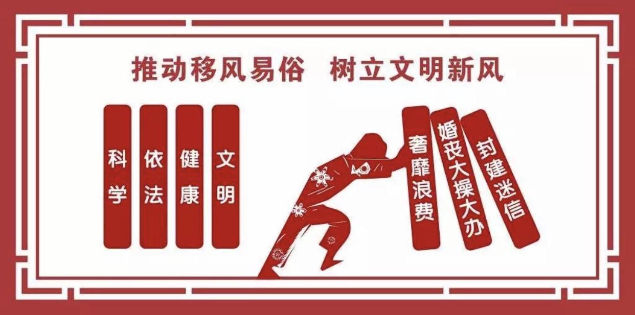"""惠民县清河镇纪委开展""""倡导移风易俗 树立五一新风""""活动"""
