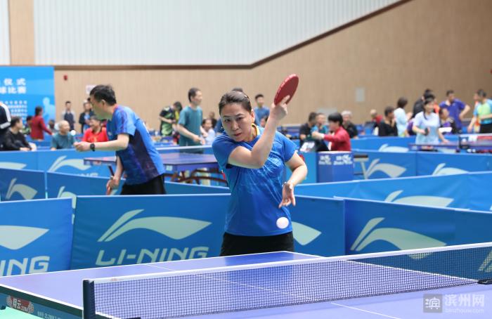 2021滨州市全民健身月启动 第十八届市直机关运动会乒乓球比赛开幕(图3)