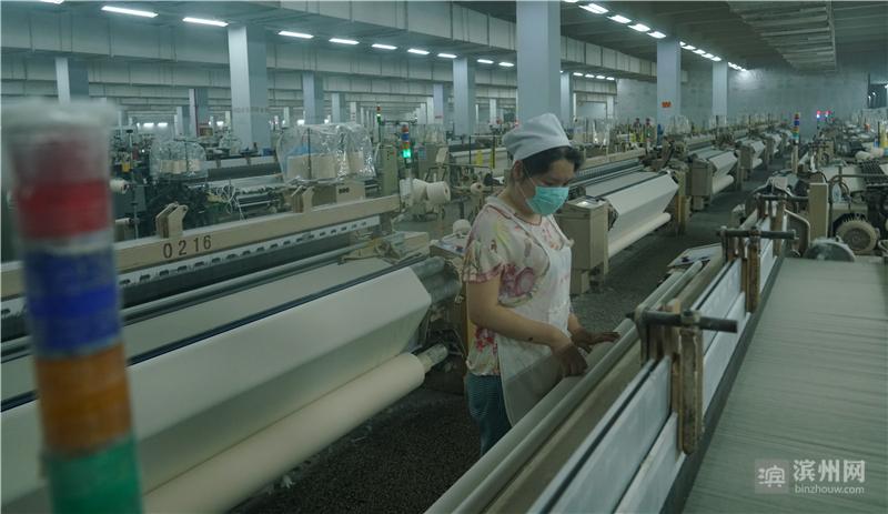 滨州魏桥科技工业园生产车间。